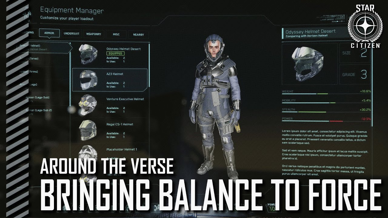 Star Citizen: Around the Verse - Bringing Balance to Force