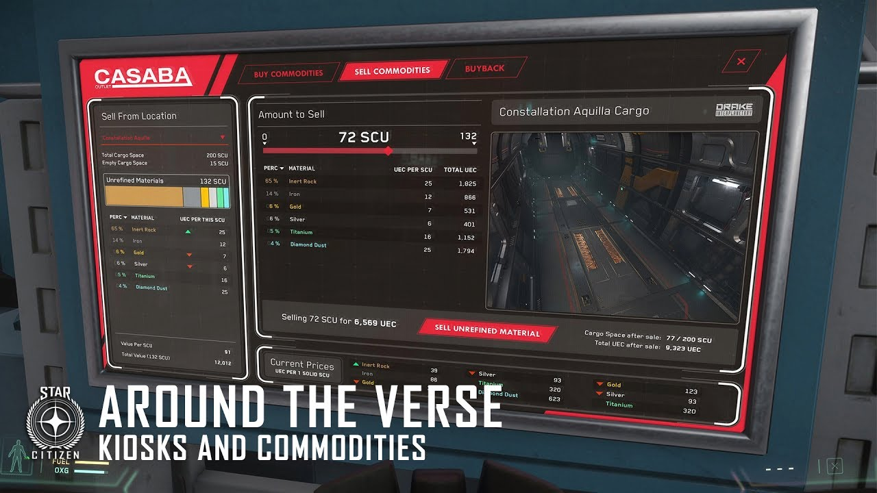 Star Citizen: Around the Verse - Kiosks and Commodities